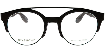 Givenchy GV 0020 Y2E/21 Round Plastic Black Eyeglasses with Demo Lens