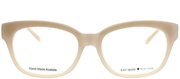 Kate Spade KS ANDRA W77 49 Rectangle Plastic Beige Eyeglasses with Demo Lens
