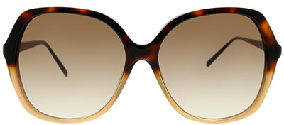 Kate Spade KS JONELL/S S5B Square Plastic Tortoise/ Havana Sunglasses with Brown Gradient Lens