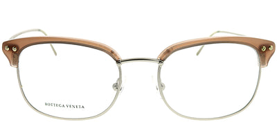 Bottega Veneta BV 179 KAZ/18 50 Square Plastic Silver Eyeglasses with Demo Lens