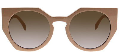 Fendi FF 0151 35J QR Cat-Eye Plastic Pink Sunglasses with Brown Gradient Lens