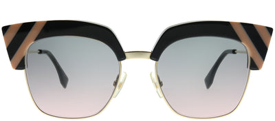 Fendi FF 0241 KB7 JP Square Plastic Grey Sunglasses with Grey Gradient Lens