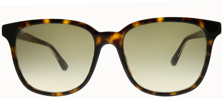 Gucci GG 0376S 002 Square Plastic Tortoise/ Havana Sunglasses with Brown Gradient Lens