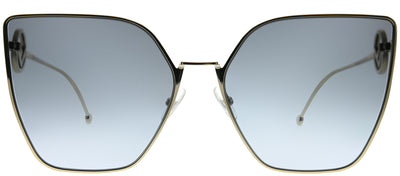 Fendi FF 0323 3YG GB Cat-Eye Metal Gold Sunglasses with Grey Azure Gradient Lens
