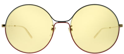 Gucci GG 0395S 005 Round Metal Gold Sunglasses with Light Brown Lens