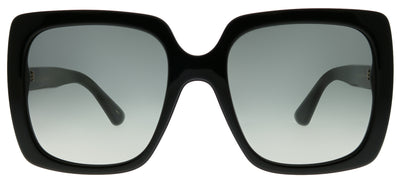 Gucci GG 0418S 001 Square Plastic Black Sunglasses with Grey Gradient Lens
