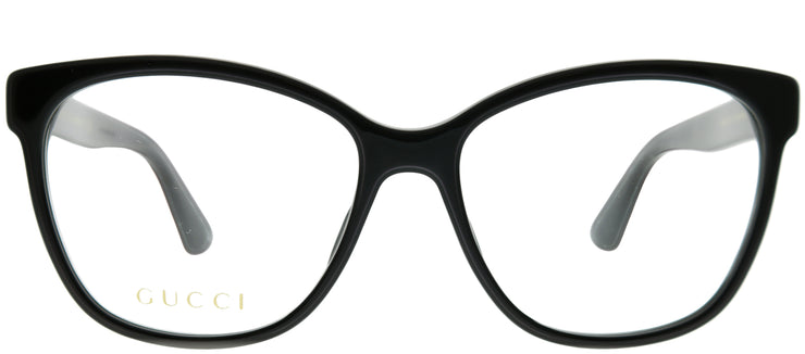 Gucci GG 0421O 001 Square Plastic Black Eyeglasses with Demo Lens