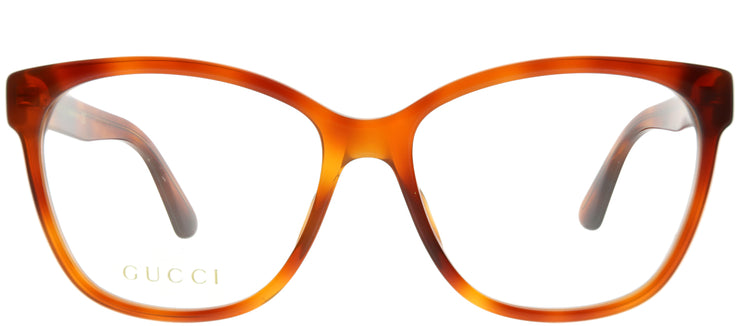 Gucci GG 0421O 004 Square Plastic Tortoise/ Havana Eyeglasses with Demo Lens