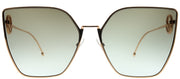 Fendi FF 0323 DDB 86 Cat-Eye Metal Gold Sunglasses with Brown Gradient Lens