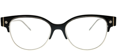 Marc Jacobs Marc 6 U53 Round Plastic Black Eyeglasses with Demo Lens