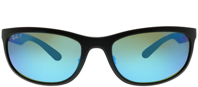 Ray-Ban RB 4265 601SA1 Sport Plastic Black Sunglasses with Blue Mirrored Polarized Lens