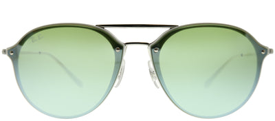 Ray-Ban RB 4292N 671/30 Aviator Metal Ivory/ White Sunglasses with Green Mirror Lens