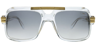 Cazal Cazal 663 065SG Square Plastic Clear Sunglasses with Grey Gradient Lens