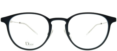 Dior Homme CD 0203 2B1 Round Metal Blue Eyeglasses with Demo