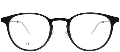 Dior Homme CD 0203 2B2 Round Metal Black Eyeglasses with Demo