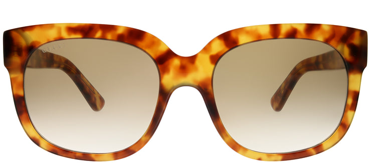 Gucci GG 0361S 004 Square Plastic Tortoise/ Havana Sunglasses with Brown Gradient Lens