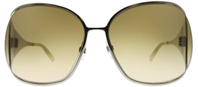Swarovski Sk 0016 16F Oval Metal Silver Sunglasses with Brown Lens