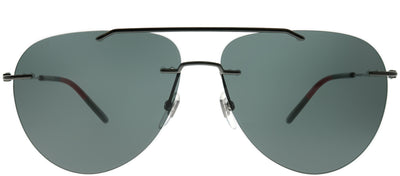 Gucci GG 0397S 001 Rimless Metal Ruthenium/ Gunmetal Sunglasses with Grey Lens