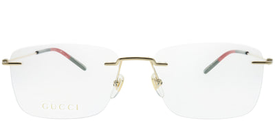 Gucci GG 0399O 002 Rimless Metal Gold Eyeglasses with Demo Lens