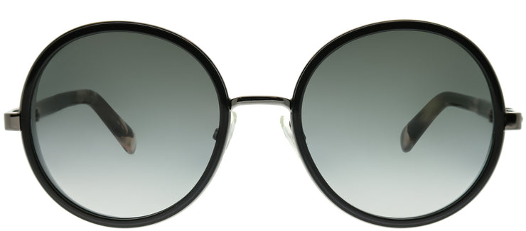 Jimmy Choo JC Andie/N 807 9O Round Metal Black Sunglasses with Dark Grey Gradient Lens