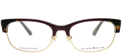 Kate Spade KS Adali LHF Rectangle Plastic Burgundy/ Red Eyeglasses with Demo Lens