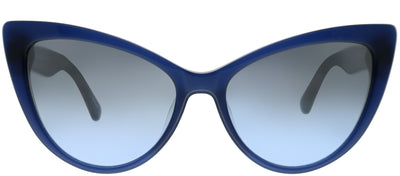 Kate Spade KS Karina PJP 9U Cat-Eye Plastic Blue Sunglasses with Silver Mirror Gradient Lens