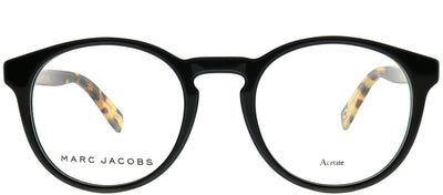 Marc Jacobs Marc 352 807 Round Plastic Black Eyeglasses with Demo Lens