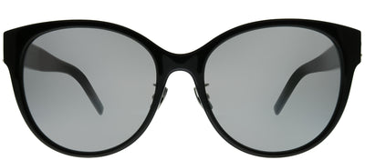 Saint Laurent SL M39/K 002 Round Plastic Black Sunglasses with Silver Mirror Lens