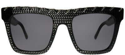 Stella McCartney SC 0128S 006 Square Plastic Black Sunglasses with Grey Lens