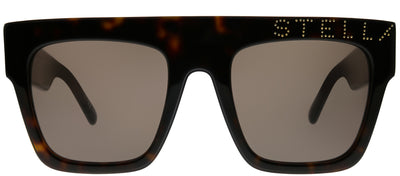 Stella McCartney SC 0170S 005 Rectangle Plastic Tortoise/ Havana Sunglasses with Brown Lens