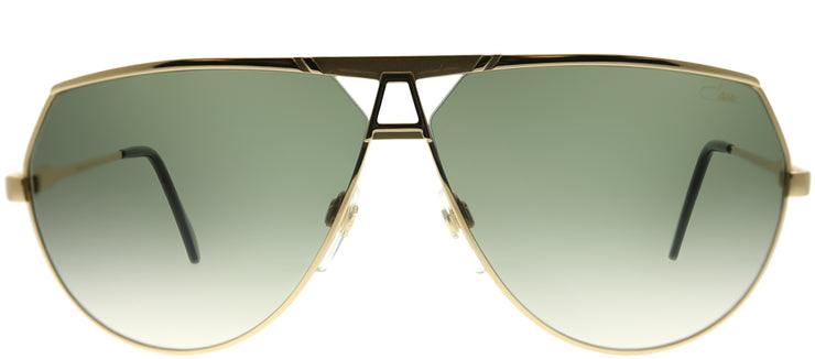 Cazal Cazal 953 097 Aviator Metal Gold Sunglasses with Green Gradient Lens