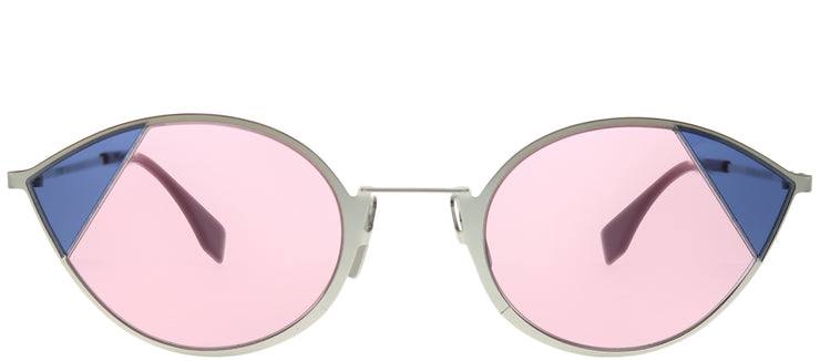 Fendi FF 0342 AVB U1 Cat-Eye Metal Silver Sunglasses with Pink Lens