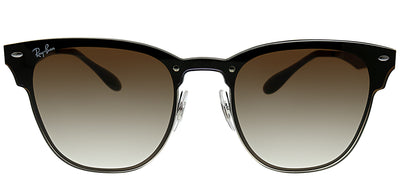 Ray-Ban RB 3576N 041/13 Clubmaster Metal Ruthenium/ Gunmetal Sunglasses with Brown Gradient Lens