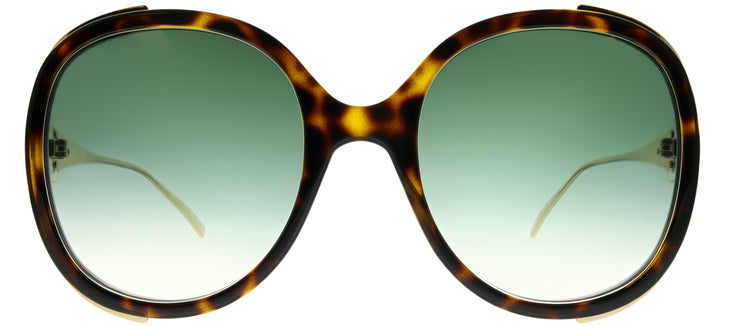 Gucci GG 0226S 003 Round Plastic Tortoise/ Havana Sunglasses with Green Gradient Lens