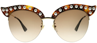 Gucci GG 0212S 002 Fashion Plastic Tortoise/ Havana Sunglasses with Brown Gradient Lens