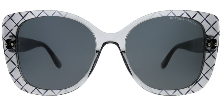 Bottega Veneta BV 0198S 001 Cat-Eye Plastic Grey Sunglasses with Grey Lens