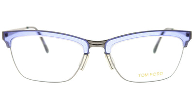 Tom Ford FT 5392 80 Cat-Eye Metal Grey Eyeglasses with Demo Lens