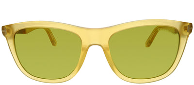 Tom Ford FT 0500 41N Square Plastic Yellow Sunglasses with Green Lens