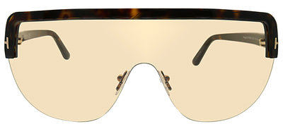 Tom Ford FT 0560 52E Shield Plastic Tortoise/ Havana Sunglasses with Light Brown Lens