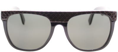 Super Flat Top 0VD Rectangle Plastic Brown Sunglasses with Grey Lens