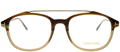 Tom Ford FT 5454 062 Square Plastic Tortoise/ Havana Eyeglasses with Demo Lens