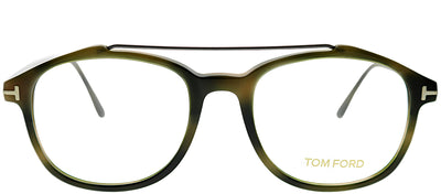 Tom Ford FT 5454 055 Square Plastic Tortoise/ Havana Eyeglasses with Demo Lens