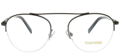 Tom Ford FT 5451 012 Round Metal Ruthenium/ Gunmetal Eyeglasses with Demo Lens