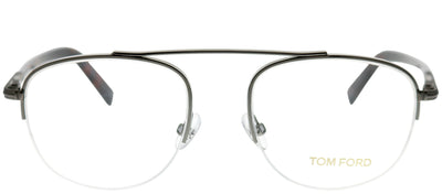 Tom Ford FT 5450 012 Round Metal Ruthenium/ Gunmetal Eyeglasses with Demo Lens