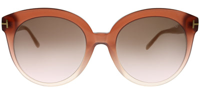 Tom Ford FT 0429 74F Round Plastic Pink Sunglasses with Grey Gradient Lens