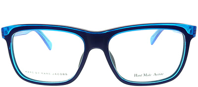 Marc by Marc Jacobs MMJ 615 MGA Rectangle Plastic Blue Eyeglasses with Demo Lens