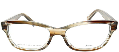 Marc by Marc Jacobs MMJ 617 KVI Rectangle Plastic Brown Eyeglasses with Demo Lens