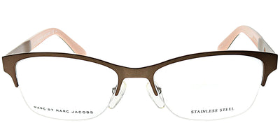 Marc by Marc Jacobs MMJ 636 A7B Semi-Rimless Metal Brown Eyeglasses with Demo Lens