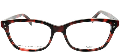 Marc by Marc Jacobs MMJ 660 BCX Rectangle Plastic Burgundy/ Red Eyeglasses with Demo Lens