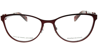 Marc by Marc Jacobs MMJ 662 LQM Cat-Eye Metal Burgundy/ Red Eyeglasses with Demo Lens
